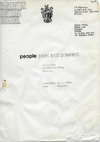 STUART BRISLEY, Artist Project Peterlee: Renamed by Easington District Council as 'People Past and Present', 1977, Cover page