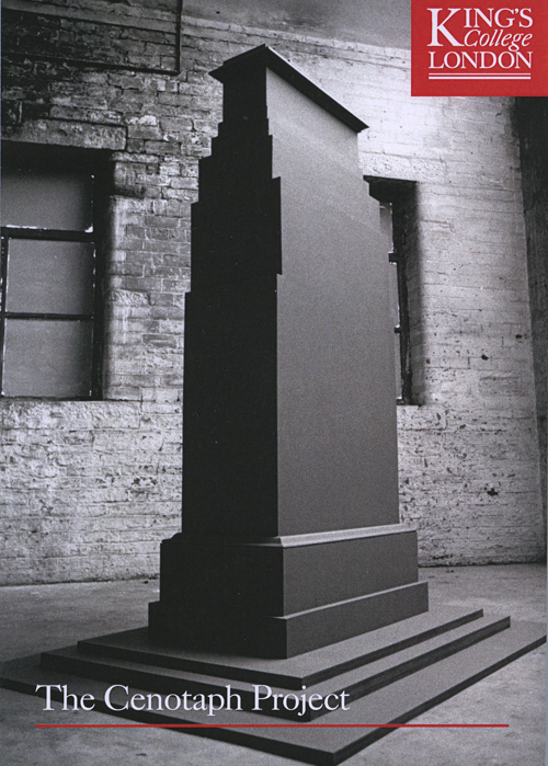 STUART BRISLEY, The Cenotaph Project King's College, 15-24 October