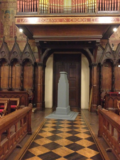 STUART BRISLEY, The Cenotaph Project, The Chapel, King's College 2014